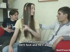 Russian teens cuckold action