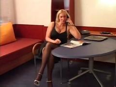 F60 big boobs blonde gets a visit