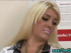 British nurses get a patient to take care of and give a handjob to