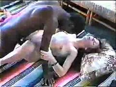 White wife gets deep bbc cum