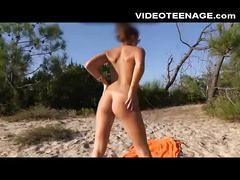 Nudist teen beach video