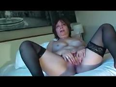 fingering, matures, stockings