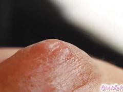 Give me pink lubed up babe fingers her ass and fucks pussy with cucumber