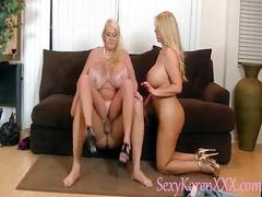 Karen fisher and kayla keelvage big tit threesome