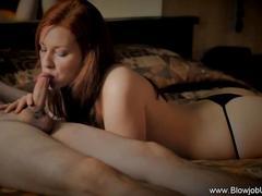 Erotic redhead super blow
