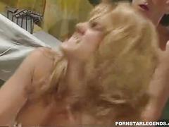 Hot classic porn star ass fucked in threeway