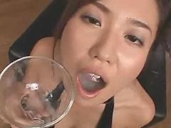 Gorgeous gokkun jizz drinker - hot russian