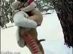 Snow sex at the vancouver olympics - (hot japanese ass)