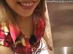 Asian public car and bathroom bj - (hot japanese ass)