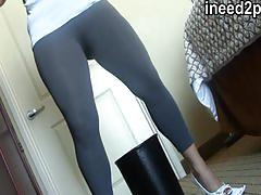 Spandex wetting real female desperation & omorashi videos 31