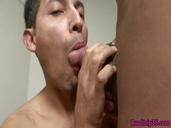 Bigtit tranny assfucking her male lover