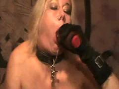 Black dildo squirting