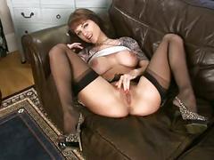big boobs, brunettes, masturbation, pornstars, stockings