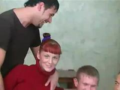 Russian redhead fucked and jizzed