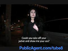 Publicagent kristina flashes tits in public b4 fucking his big cock