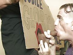 Her employee will suck her cock @ tranny glory hole surprise #03