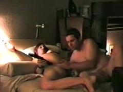 Amateur anal fuck and big black dildo in pussy - f94