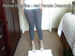 Latina kenna wetting her pants & tight jeans