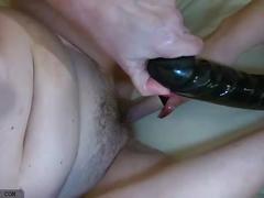 Oldnanny old mature lesbian and mature woman masturbating