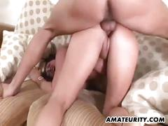 Busty amateur milf experiencing great fuck