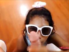 Tiny asian teen heather deep anal creampie on bar stool after deepthroating monster big  cock