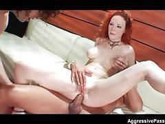 Redheaded porn slut audrey hollander double penetrated