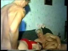 3 old grandmas start with lesbo games & share a younger dick afterwards