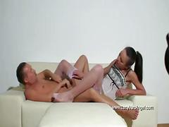 Nataly gold nylon footjob