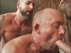 Hot hunks enjoy barebacking
