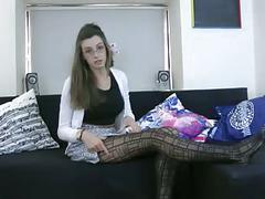 Antonia tries falke frames tights