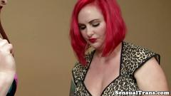 Redhead trans seducing her younger lover