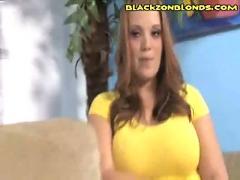 White woman strips black guy