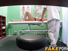 Beautiful black haired student wants to ride doctors cock
