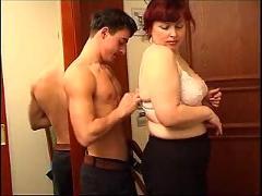 Nephew fucks his fat aunt
