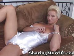 blonde, milf, mature, wife, busty, vibrator, bigtits, lingerie, masturbate, housewife, older, cougar