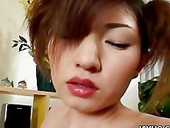 Horny babe hitomi ikeno blowjob and hard fuck