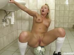Sexy german football player masturbate