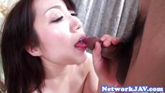 Gorgeous bigass asian babe gets doggystyled