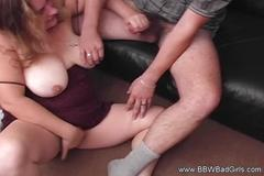 Bbw handjob from amateur housewife