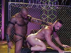 gays, interracial, rimjob, black, muscular, from behind, anal sex, raging stallion, eddy ceetee, daymin voss