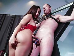 Bound slave willing to get tortured by mistress
