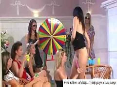 Pretty women swallow sex toys