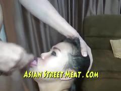 Seaside saucy slapper sucks dick