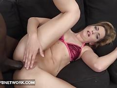 Blonde takes this hard dick up her ass