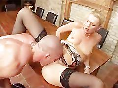milf, anal, rough sex, blonde, german, stockings, rim-job, pussy-licking, doggy-style, shaved-pussy, natural-tits, fingering, blowjob, ass-fucking, reverse-cowgirl, facial