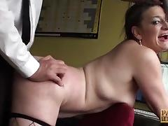 British woman anally disciplined before tasting cum