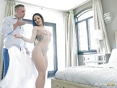 milf, blowjob, big boobs, kissing, caught masturbating, vibrator, shower, bubble butt, brunette, cheating wife, real wife stories, brazzers network, keiran lee, kissa sins