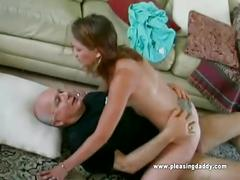 Sexy cute blond gets fucked by mature pornstar dave cummings