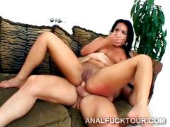 Dp threesome with super hot latina whore