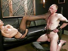 tranny, domination, deepthroat, interracial, asian, kissing, nipple clamps, babe, foot worship, ts seduction, kink, venus lux, damien moreau